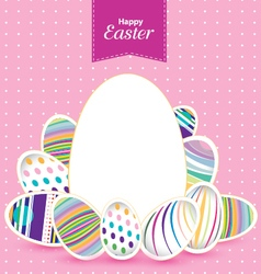 Easter day for egg on design Colorful pattern for vector