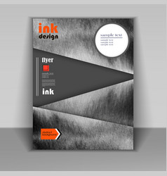 flyer design ink vector image