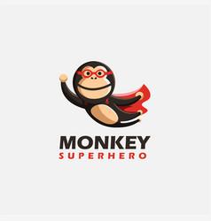 flying monkey superhero logo monkey logo vector image
