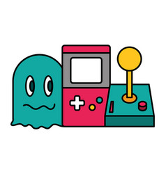 Ghost console and joystick video game vector