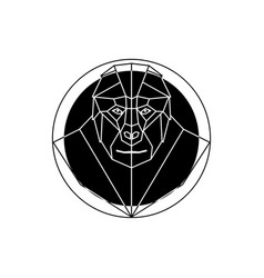 Head gorilla in geometry style vector