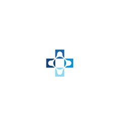 health technology logo icon vector image
