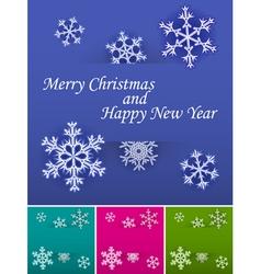 Holiday card set vector image