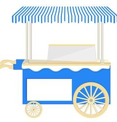 Ice cream blue cart vector image