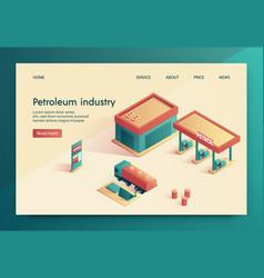 is written petroleum industry vector image