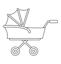 kid trolley icon outline style vector image
