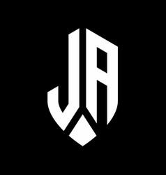 la logo monogram with emblem shield style design vector image