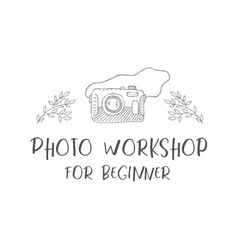 Logo of photo camera vector