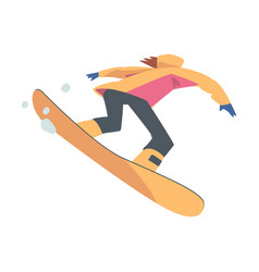 man snowboarding in mountains snowboarder vector image