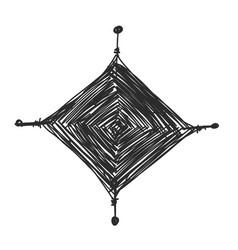 Mandala knitting sketch for your design vector