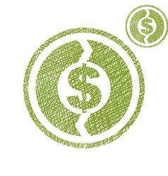 Money circulation exchange economy concept simple vector image