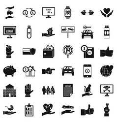 Monitor icons set simple style vector
