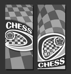 monochrome banners for chess vector image