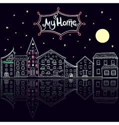 My home night vector