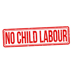 No child labour grunge rubber stamp vector