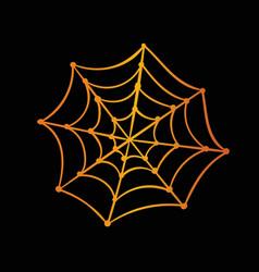 Orange gradient halloween holiday spider web flat vector