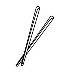 pair of chopsticks element japan food image vector image