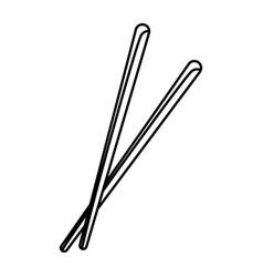 Pair of chopsticks element japan food image vector