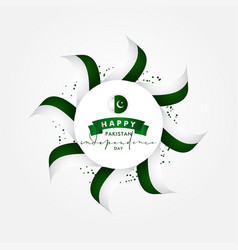 Pakistan independence day design for celebrate vector