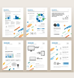 Presentation booklets - template a4 pages vector