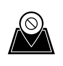 Protest location glyph icon vector
