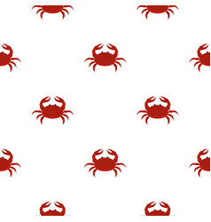 Red crab pattern seamless vector