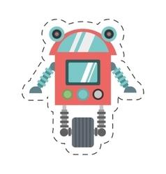 robot cyborg machine futuristic cutting line vector image