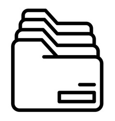 Row folders icon outline style vector