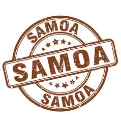 Samoa brown grunge round vintage rubber stamp vector