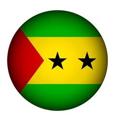 Sao Tome and Principe flag button vector image