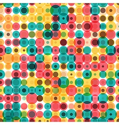 Seamless vintage circles pattern vector image