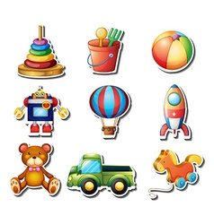 Set toys stickers vector