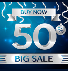 Silver big sale buy now fifty percent for discount vector
