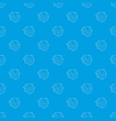 small hut pattern seamless blue vector image