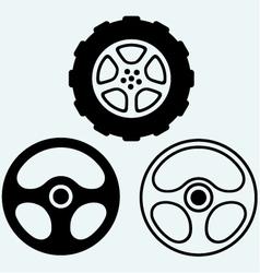 Steering and car wheel vector
