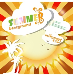 Sun summer abstract background or card vector image