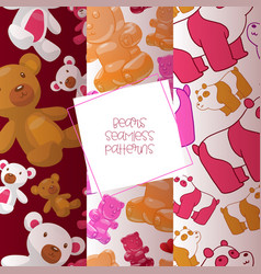 teddy bear seamless pattern jelly-bear vector image