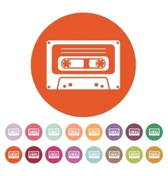 The tape icon Cassette symbol Flat vector image