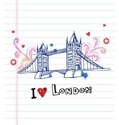 Tower bridge- symbol of London vector