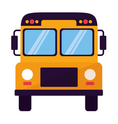 transport bus school on white background vector image
