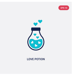 Two color love potion icon from birthday party vector