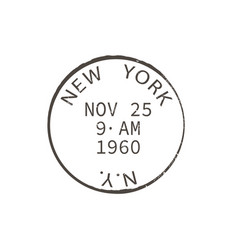 us post office rubber stamp isolated retro ny sign vector image