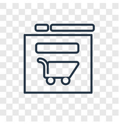 web shop concept linear icon isolated on vector image