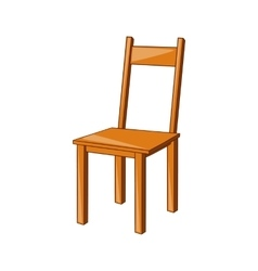 Wooden chair icon cartoon style vector image