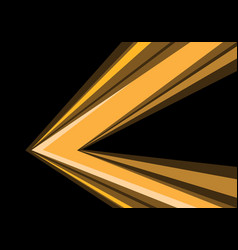 yellow arrow speed direction on black vector image
