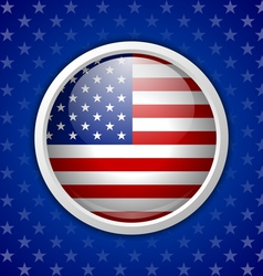 American circular badge vector image vector image