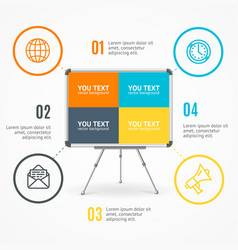 concept of business infographic option banner card vector image vector image