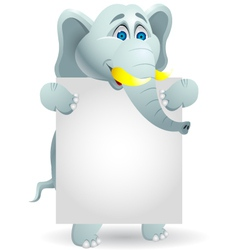 cute elephants with blank sign vector image