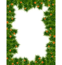 Detailed realistic christmas frame EPS 10 vector image vector image