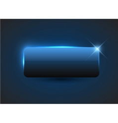 empty blue button vector image